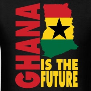 Ghana Is The Future Ghana Flag Map T-Shirt - Men's T-Shirt