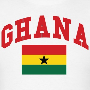 Ghana Flag With Ghana Name Text - Men's T-Shirt