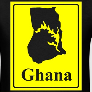 Men's Ghana Map With Frame T-Shirt - Men's T-Shirt