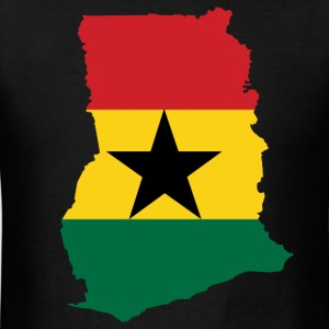 Ghana Map Flag T-Shirt - Men's T-Shirt
