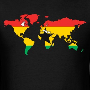 Ghana Falg In World Map T-Shirt - Men's T-Shirt