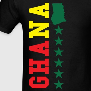 Ghana Typographical Ghana Map T-Shirt - Men's T-Shirt