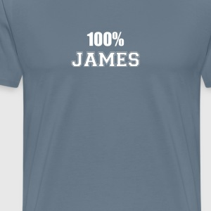 100% james T-Shirts - Men's Premium T-Shirt