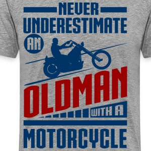 Old Man With Motorcycle T-Shirts - Men's Premium T-Shirt