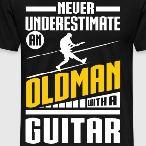 Old Man With A Guitar T-Shirts - Men's Premium T-Shirt