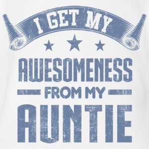 Awesomeness From My Aunt Baby Bodysuits - Short Sleeve Baby Bodysuit