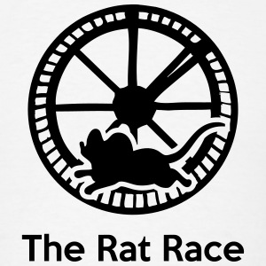 The Rat Race (Working 9-5) T-Shirts - Men's T-Shirt