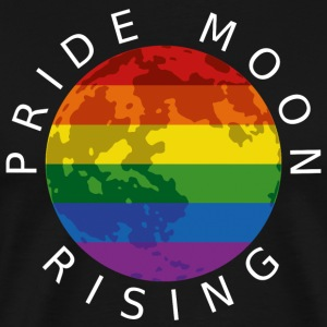 Pride Moon Rising - White T-Shirts - Men's Premium T-Shirt