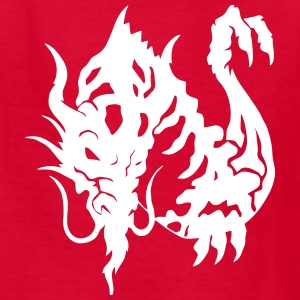 Tribal Asian Dragon Flying Kids' Shirts - Kids' T-Shirt