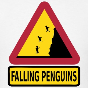 FALLING PENGUINS T-Shirts - Men's T-Shirt