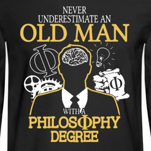 Old Man With Philosophy Degree - Men's Long Sleeve T-Shirt