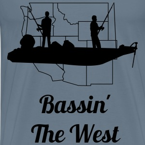 Bassin' The West Logo T-Shirts - Men's Premium T-Shirt