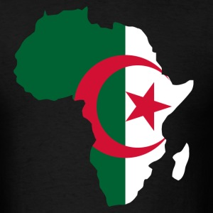 Algeria Map In Africa Map T-Shirt - Men's T-Shirt