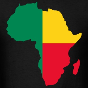 Benin Flag In Africa Map - Men's T-Shirt