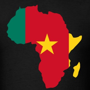 Cameroon Flag In Africa Map T-Shirt - Men's T-Shirt