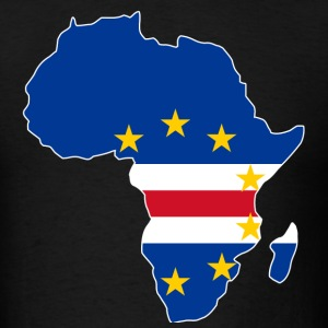 Cape Verde Flag In Africa Map - Men's T-Shirt