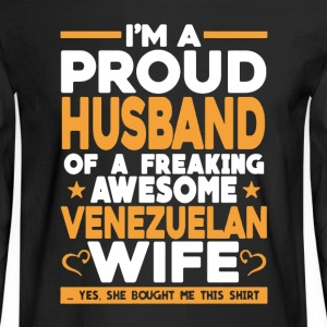 Proud Husband Of Venezuelan Wife - Men's Long Sleeve T-Shirt
