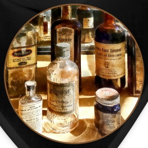 Medicine Bottles in Glass Case Caps - Bandana