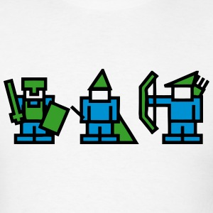 Knight, Wizard, Archer - 8Bit RPG Characters T-Shirts - Men's T-Shirt
