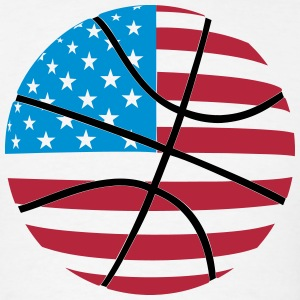 USA Flag Basketball T-Shirts - Men's T-Shirt
