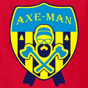 AXE-MAN (Bearded Woodcutter) Kids' Shirts - Kids' T-Shirt
