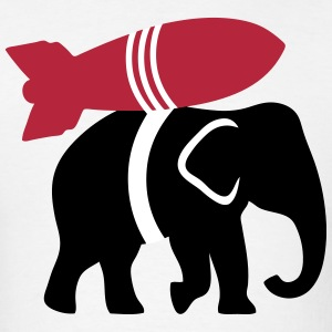 Elephant with Rocket  T-Shirts - Men's T-Shirt