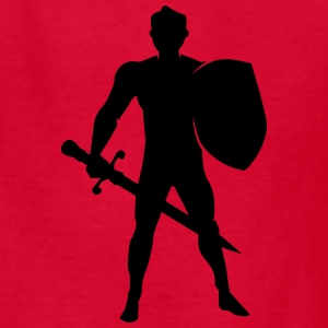 Warrior / Knight Man Silhouette Kids' Shirts - Kids' T-Shirt