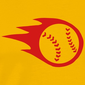 Fireball Baseball or Softball T-Shirts - Men's Premium T-Shirt