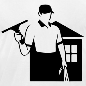 window cleaner T-Shirts - Men's T-Shirt by American Apparel