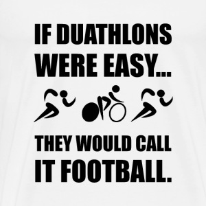 Duathlon Football - Men's Premium T-Shirt
