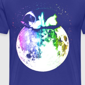 Space Cat on Moon - Men's Premium T-Shirt
