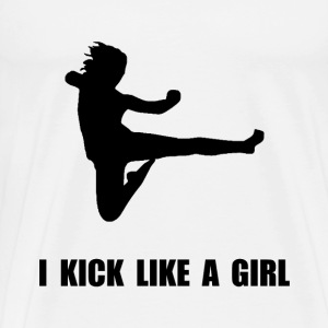 Kick Like A Girl T-Shirts - Men's Premium T-Shirt