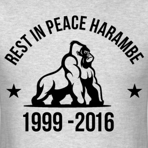 Rest In Peace Harambe T-shirt - Men's T-Shirt