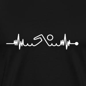 Swimming Pulse Shirt - Men's Premium T-Shirt
