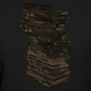 Stack of Retro Cassette Tapes - Women's T-Shirt