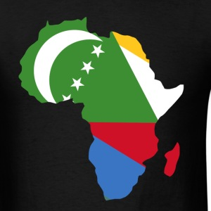 Comoros Flag In Africa Map - Men's T-Shirt