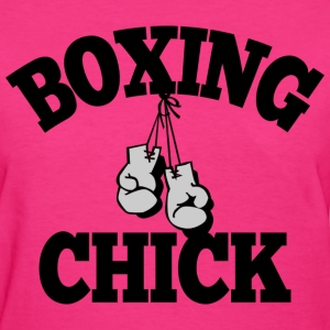 Boxing Chick T-Shirts - Women's T-Shirt