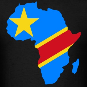 Democratic Republic of Congo Flag In Africa Map  - Men's T-Shirt