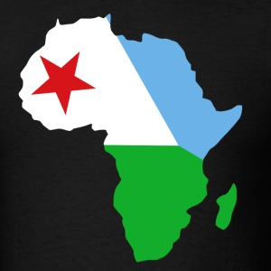 Djibouti Flag In Africa Map - Men's T-Shirt