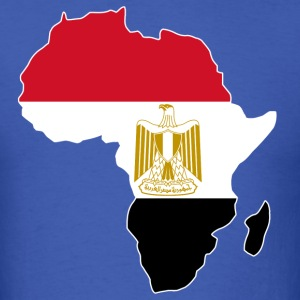 Egypt Flag In Africa Map T-Shirt - Men's T-Shirt