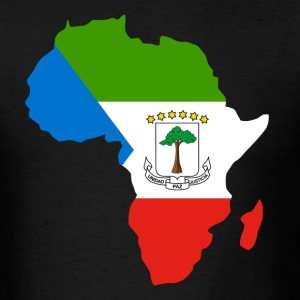 Equatorial Guinea Flag In Afica Map - Men's T-Shirt