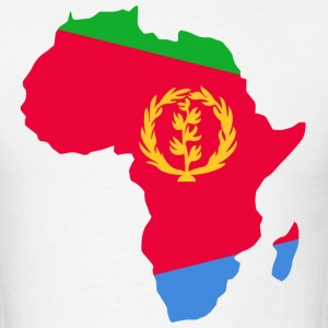 Eritrea Flag In Africa Map T-Shirt - Men's T-Shirt
