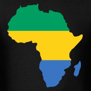 Gabon Flag In Africa Map T-Shiirt - Men's T-Shirt