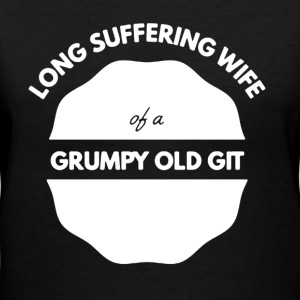 Wife Of A Grumpy Old Git - Women's V-Neck T-Shirt