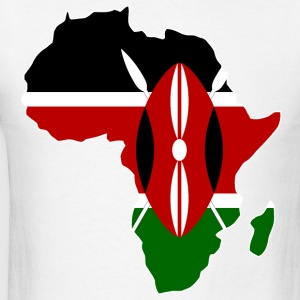 Kenya Flag In Africa Map - Men's T-Shirt