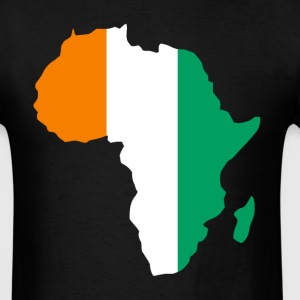 Ivory Caost Flag In Africa Map - Men's T-Shirt