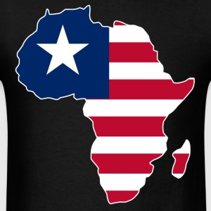 Liberia Flag In Africa Map - Men's T-Shirt
