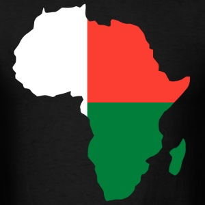 Madagascar Flag In Africa Map t-shirt - Men's T-Shirt