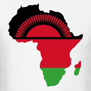 Malawi Flag In Africa Map - Men's T-Shirt