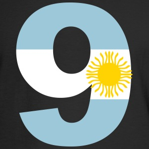 Argentinia Numbers, 9, Jersey Numbers Argentinia Long Sleeve Shirts - Men's Long Sleeve T-Shirt